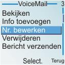 Nokia 6030 - Voicemail - handmatig instellen - Stap 6