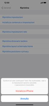 Apple iPhone XS Max - Dispositivo - Ripristino delle impostazioni originali - Fase 8