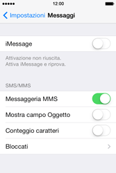 Apple iPhone 4S iOS 7 - MMS - configurazione manuale - Fase 8