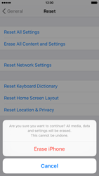 Apple iPhone 6 iOS 9 - Mobile phone - Resetting to factory settings - Step 8