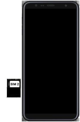 Samsung Galaxy J6 Plus - Toestel - simkaart plaatsen - Stap 10
