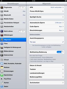 Apple iPad Retina - Gerät - Zurücksetzen auf die Werkseinstellungen - Schritt 5