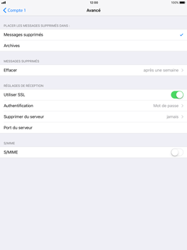 Apple iPad mini 2 iOS 11 - E-mail - configuration manuelle - Étape 26