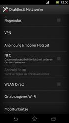 Sony Xperia T - Netzwerk - Netzwerkeinstellungen ändern - Schritt 5
