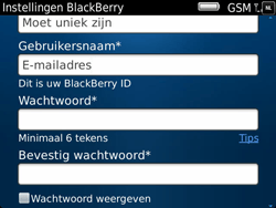BlackBerry 9900 Bold Touch - BlackBerry activeren - BlackBerry ID activeren - Stap 9