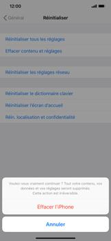 Apple iPhone XR - Aller plus loin - Restaurer les paramètres d'usines - Étape 7
