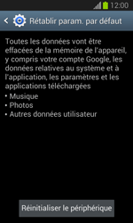 Samsung Galaxy Trend Lite - Téléphone mobile - Réinitialisation de la configuration d