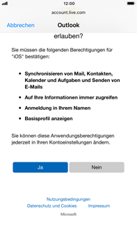 Apple iPhone 8 Plus - E-Mail - Konto einrichten (outlook) - Schritt 8