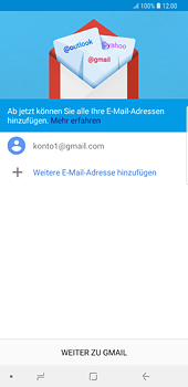Samsung Galaxy S8 Plus - Android Oreo - E-Mail - 032a. Email wizard - Gmail - Schritt 13