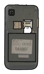 Samsung I9000 Galaxy S - SIM-Karte - Einlegen - Schritt 4