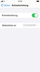 Apple iPhone SE - iOS 13 - Anrufe - Rufumleitungen setzen und löschen - Schritt 8