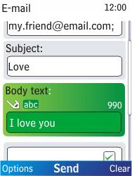 Nokia X2-00 - E-mail - Sending emails - Step 10