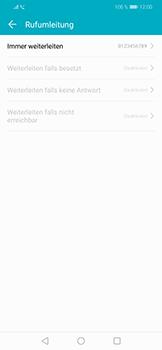 Huawei Honor Play - Anrufe - Rufumleitungen setzen und löschen - 8 / 9