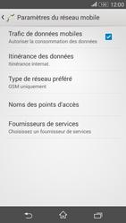 Sony Xperia E4g - Aller plus loin - Désactiver les données à l'étranger - Étape 6