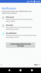 Sony Xperia XZ1 - E-mail - manual configuration - Step 20