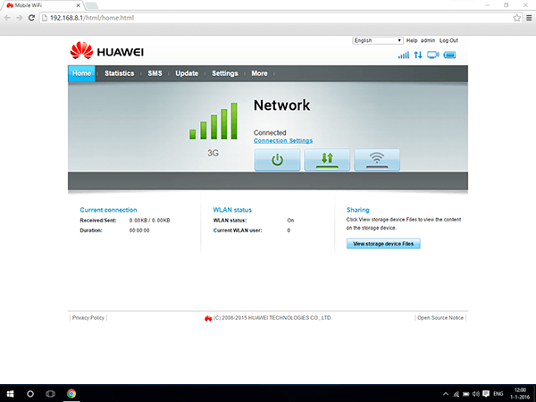 Huawei E5770 - Software - Software update - Step 1