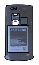 Samsung S8600 Wave 3 - SIM-Karte - Einlegen - Schritt 5