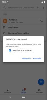 Nokia 6.1 Plus - Android Pie - Anrufe - Anrufe blockieren - Schritt 7
