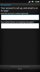 Sony MT27i Xperia Sola - E-mail - Manual configuration - Step 15