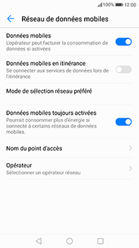 Huawei P10 Plus - Internet et roaming de données - Configuration manuelle - Étape 6
