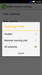 Alcatel One Touch Idol Mini - Internet and data roaming - Disabling data roaming - Step 7