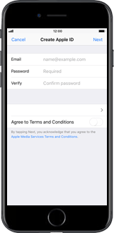 Apple iPhone XR - Applications - Create an account - Step 7