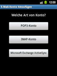 Samsung Galaxy Y - E-Mail - Konto einrichten - 2 / 2