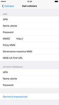 Apple iPhone 6 Plus iOS 9 - Internet e roaming dati - Configurazione manuale - Fase 7