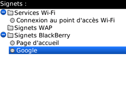 BlackBerry 8520 Curve - Internet - Navigation sur Internet - Étape 10