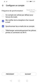 Huawei P30 Lite - E-mail - 032b. Email wizard - Yahoo - Étape 8