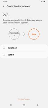 Samsung galaxy-a80-dual-sim-sm-a805fz - Contacten en data - Contacten kopiëren van SIM naar toestel - Stap 11