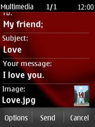 Nokia Asha 300 - MMS - Sending pictures - Step 21