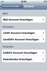 Apple iPhone 3G - E-Mail - Konto einrichten - Schritt 6