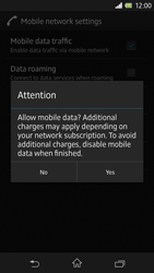 Sony Xperia Z - Internet and data roaming - Manual configuration - Step 7