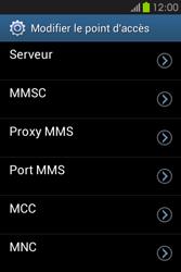 Samsung S6810P Galaxy Fame - MMS - Configuration manuelle - Étape 12