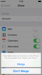 Apple iPhone 5 iOS 7 - Applications - configuring the Apple iCloud Service - Step 6