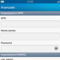 BlackBerry Q10 - MMS - Configurazione manuale - Fase 9