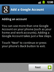Samsung Galaxy Y - Applications - Setting up the application store - Step 5