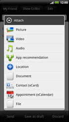 HTC Z715e Sensation XE - E-mail - Sending emails - Step 9