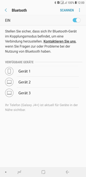 Samsung Galaxy J4+ - Bluetooth - Geräte koppeln - Schritt 10