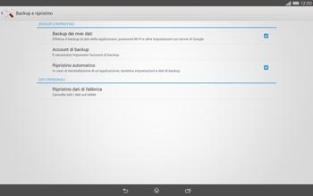 Sony Xperia Tablet Z2 LTE - Dispositivo - Ripristino delle impostazioni originali - Fase 6