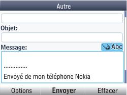 Nokia Asha 201 - E-mail - envoyer un e-mail - Étape 10