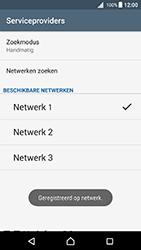 Sony Xperia X (F5121) - Android Nougat - Netwerk selecteren - Handmatig een netwerk selecteren - Stap 13
