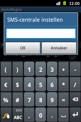 Samsung S6500D Galaxy Mini 2 - SMS - handmatig instellen - Stap 5