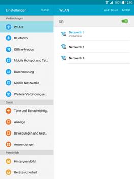 Samsung T555 Galaxy Tab A 9.7 - WLAN - Manuelle Konfiguration - Schritt 7