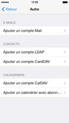 Apple iPhone 5s - E-mail - Configuration manuelle - Étape 7