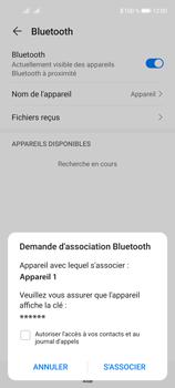 Huawei P40 Lite 5G - Internet et connexion - Connexion avec un équipement multimédia via Bluetooth - Étape 7