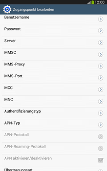 Samsung Galaxy Tab 3 8-0 LTE - MMS - Manuelle Konfiguration - Schritt 13