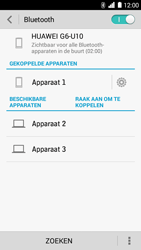Huawei Ascend G6 - bluetooth - headset, carkit verbinding - stap 8