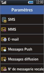 Samsung S5620 Monte - Messagerie vocale - configuration manuelle - Étape 5